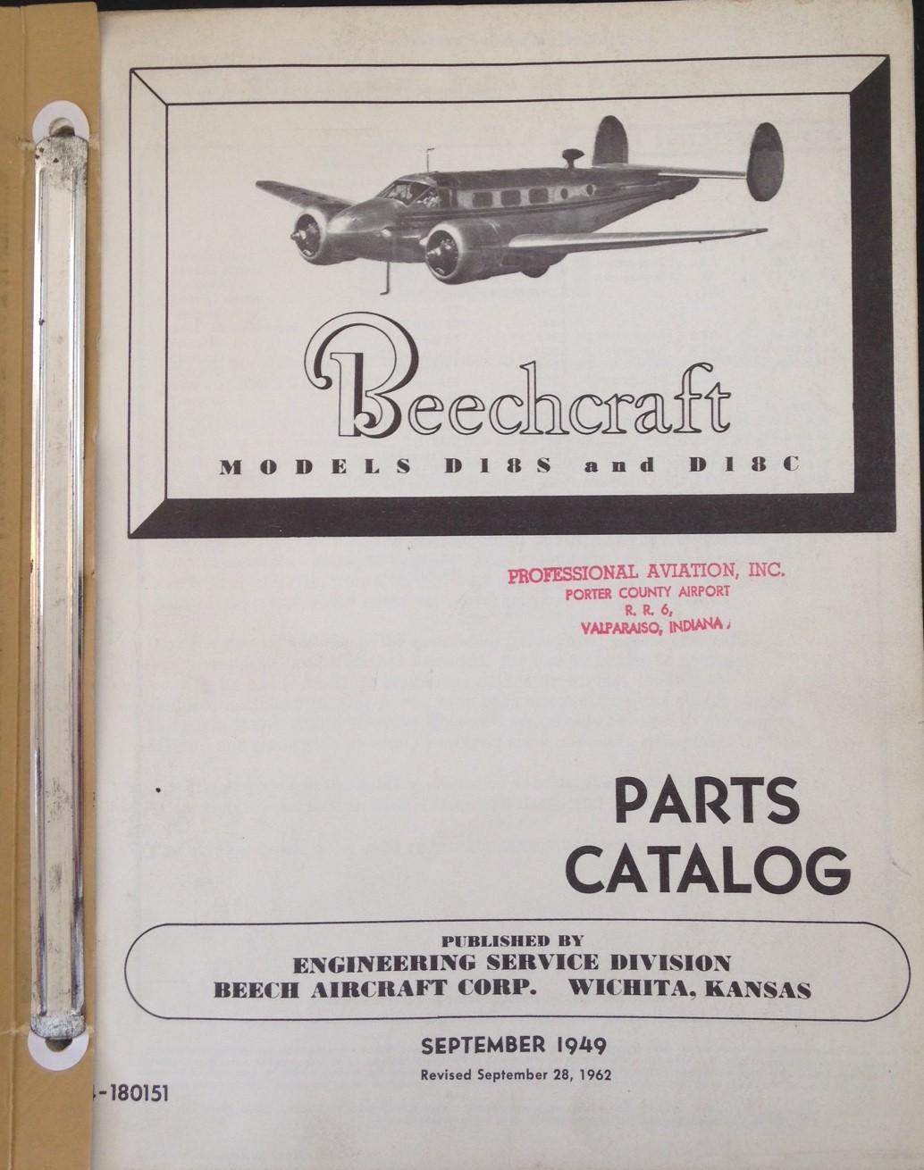 Beechcraft Model D-18 Parts Catalog