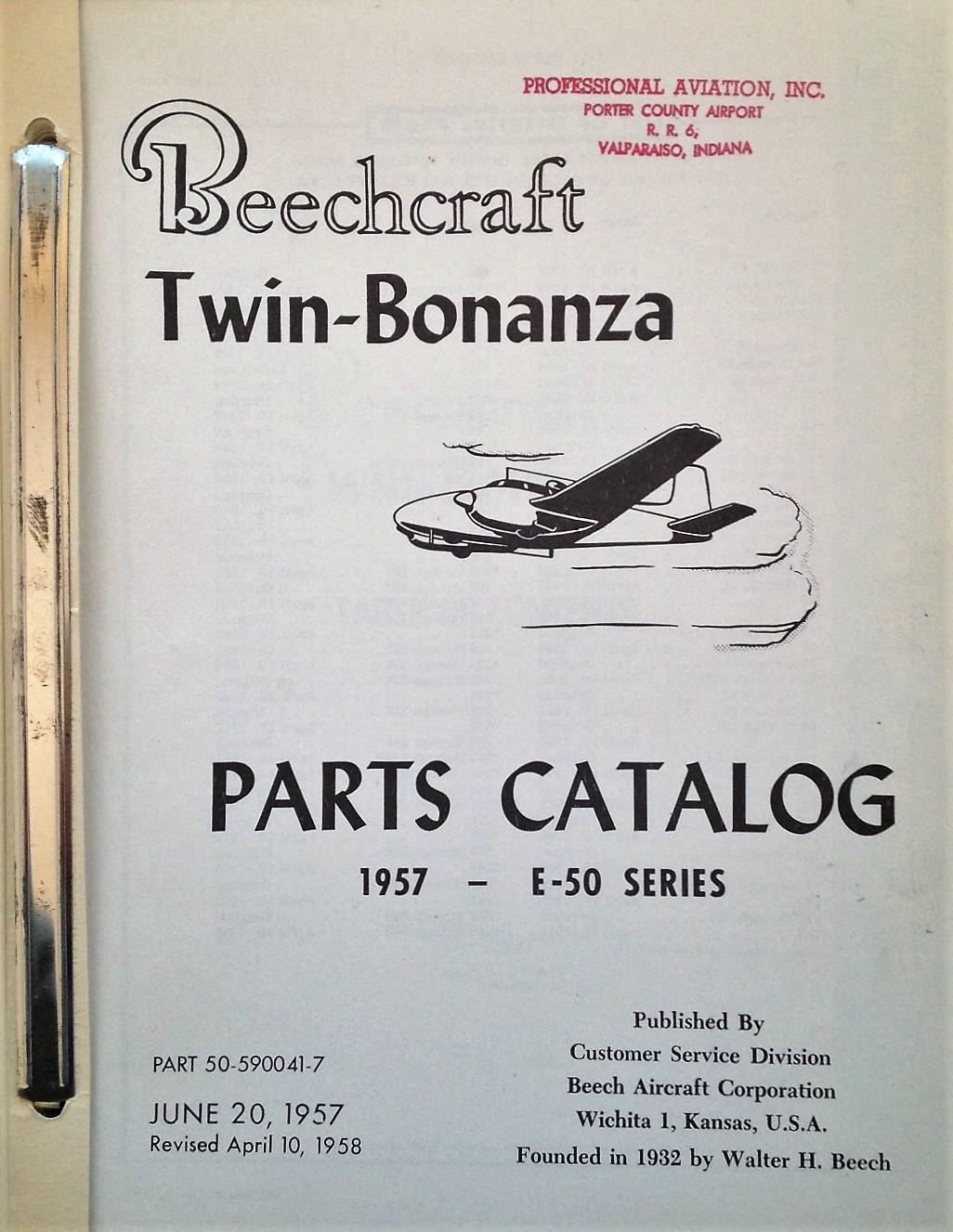 Beechcraft Twin-Bonanza E-50 Parts Catalog