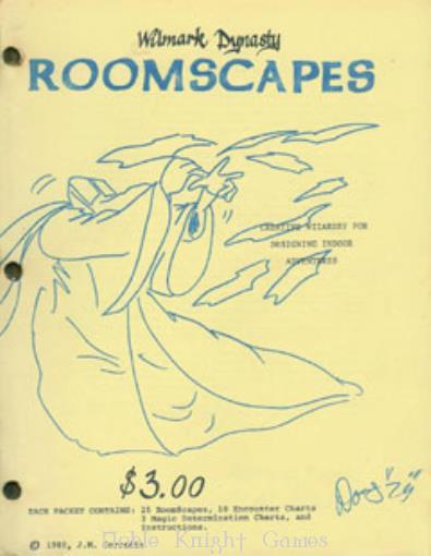 Roomscapes (Fantasy Modules (Wilmark Dynasty)) Very Good Softcover Wilmark Dynasty Fantasy Modules (Wilmark Dynasty) Roomscapes (VG+) (staple rust) Manufacturer: Wilmark Dynasty Product Line: Fantasy Modules (Wilmark