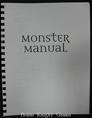 Monster Manual 3.0 Pre-Publication Edition (Dungeons & Dragons (3rd Edition) (d20) - Dungeon ...