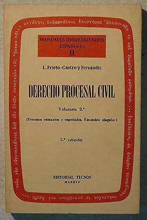 Derecho Procesal Civil (Manual).Tomo II. Volumen 2º.: L. Prieto-Castro y
