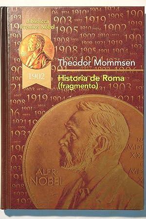 Historia de Roma ( fragmento): Theodor Mommsen