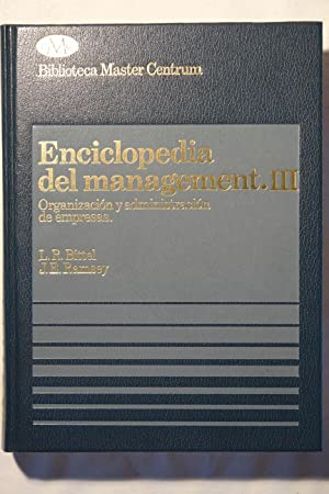 Enciclopedia del Management, III: L.R. Bittel y J.E. Ramsey