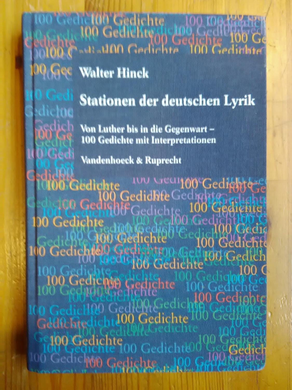 Stationen Der Deutschen Lyrik Von Luther
