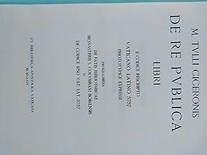 M. Tulli Ciceronis de re publica libri: Cicero, Marcus Tullius: