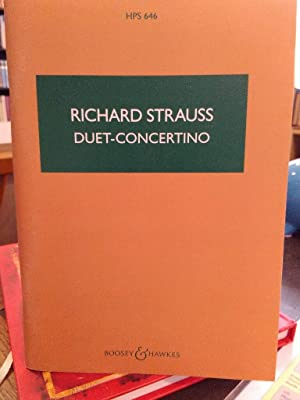 Duet-Concertino for Clarinet and Bassoon with string Orchestra and Harp. (HPS 646)