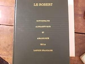 Le Robert dictionnaire alphabétique et analogique de la langue Française: Paul Robert