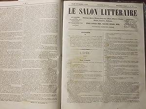 """Hebdomadaire """"Le salon littéraire"""" du jeudi 1er Septembre 1842 au Dimanche 30 ..."""