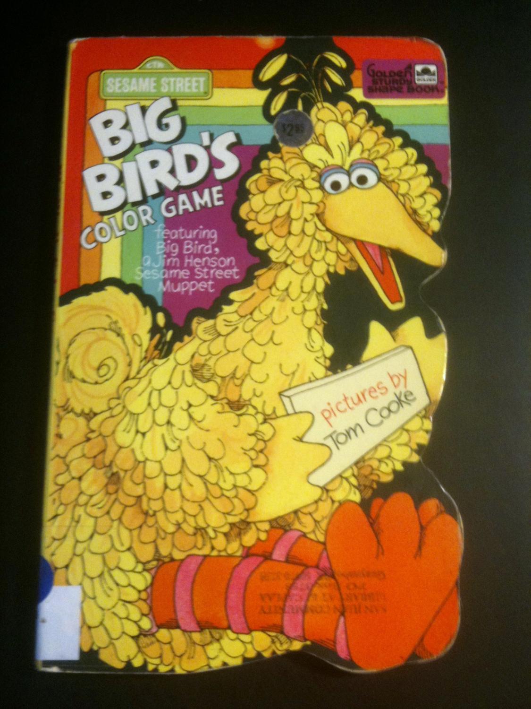 Big Bird's Color Game (Golden Sturdy Shape Book / Sesame Street)