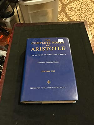 COMPLETE WORKS ARISTOTLE