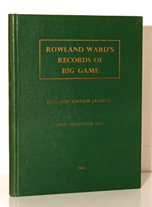Rowland Ward's Records of Big Game XIth: Best Gerald A.