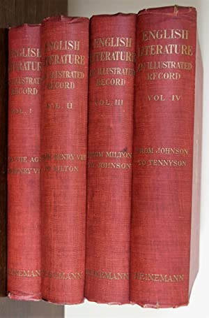 English Literature an Illustrated Record [ 4 Volumes ]
