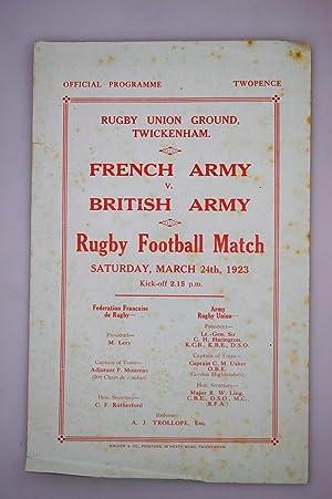 French Army v British Army Rugby Football: Federation Francaise De