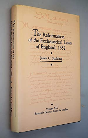 The reformation of the ecclesiastical laws of England, 1552