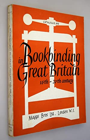 Bookbinding in Great Britain : sixteenth to the twentieth Century: catalogue 893.