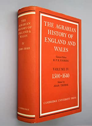 The Agrarian History of England and Wales Vol IV