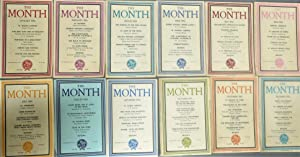 The Month: Jan - Dec 1952 { 12 Volumes complete for 1952 } New Series: Vol 7 Nos 1-6 & Vol 8 Nos ...