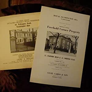 Leamington Spa- 2 Auction Sale Catalogues for