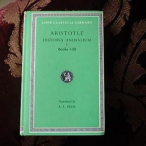 Historia animalium I, Books I - III.: Aristotle. Peck, A.