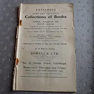 Catalogue of Rare and Valuable Collections of