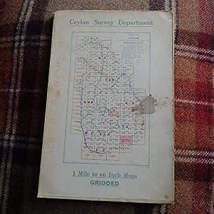 "Map of Ceylon - 1"" to 1"