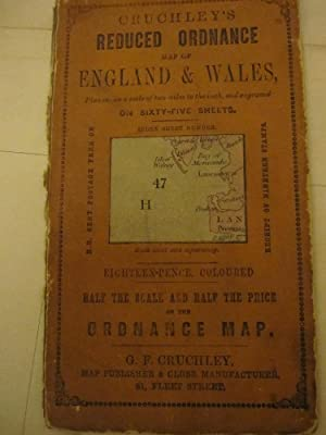 CRUCHLEY'S REDUCED ORDNANCE MAP OF ENGLAND & WALES (2 MILES TO THE INCH) SHEET 47 - PARTS ...