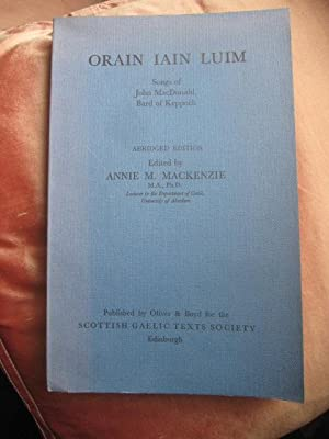 Orain Iain Luim - Songs of John: Mackenzie, Aie M.