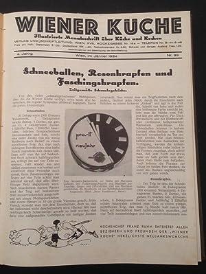 Wiener Küche illustrierte Monatsschrift über Küche und kochen Nr. 39 - 56: Ruhm, ...