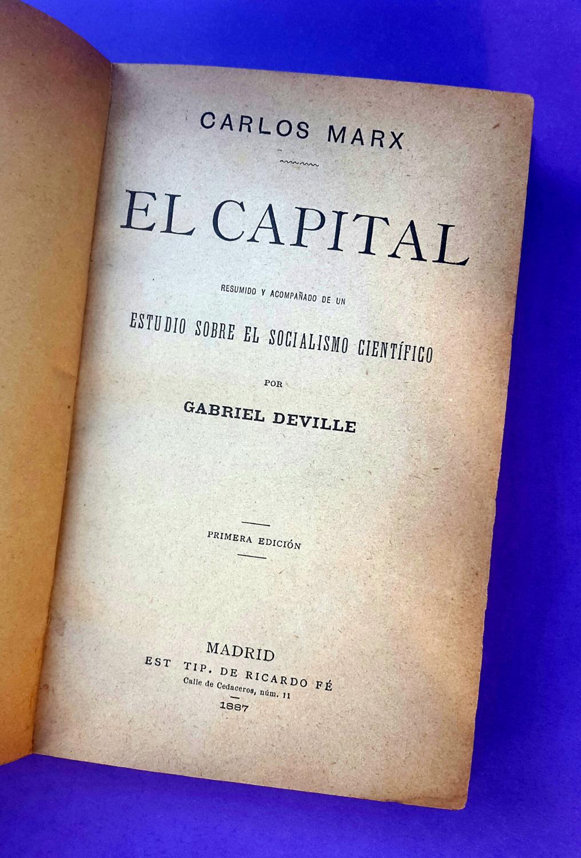 EL CAPITAL: CARLOS MARX · KARL MARX