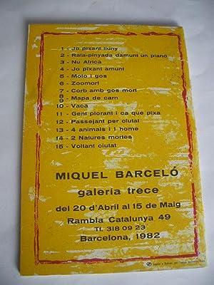 BARCELÓ · 1982 · CATALOGO 16 LITOGRAFIAS: MIQUEL BARCELÓ