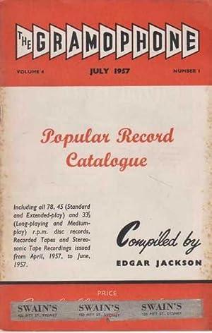 The Gramophone July 1957 Volume 4 Number: Edgar Jackson -