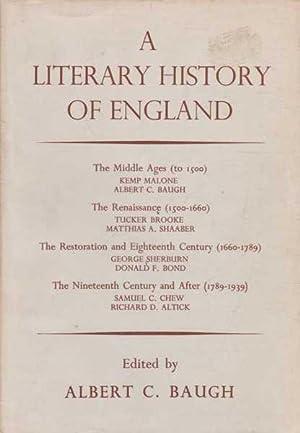 A Literary History of England. Book I: Albert C. Baugh