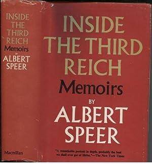 Inside The Third Reich Memoirs by Albert: Speer, Albert (Richard
