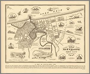 Cleveland and Ohio City Pictorial Map, 1836: Suchy, Arthur B.