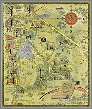 Colgate University Campus and Environs Pictorial Map, 1927: Suchy, Arthur B.