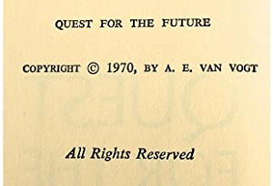 Quest for the Future: A. E. Van Vogt