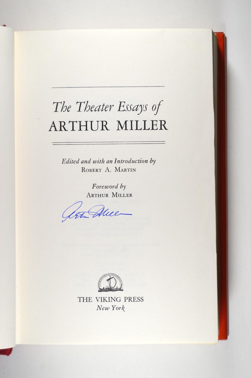 Generals Die In Bed Essay The Theater Essays Of Arthur Miller Miller Arthur To Kill A Mockingbird Symbolism Essay also What Are The Types Of Essay Writing The Theater Essays Of Arthur Miller By Miller Arthur New York The  Cause And Effect Essay Smoking