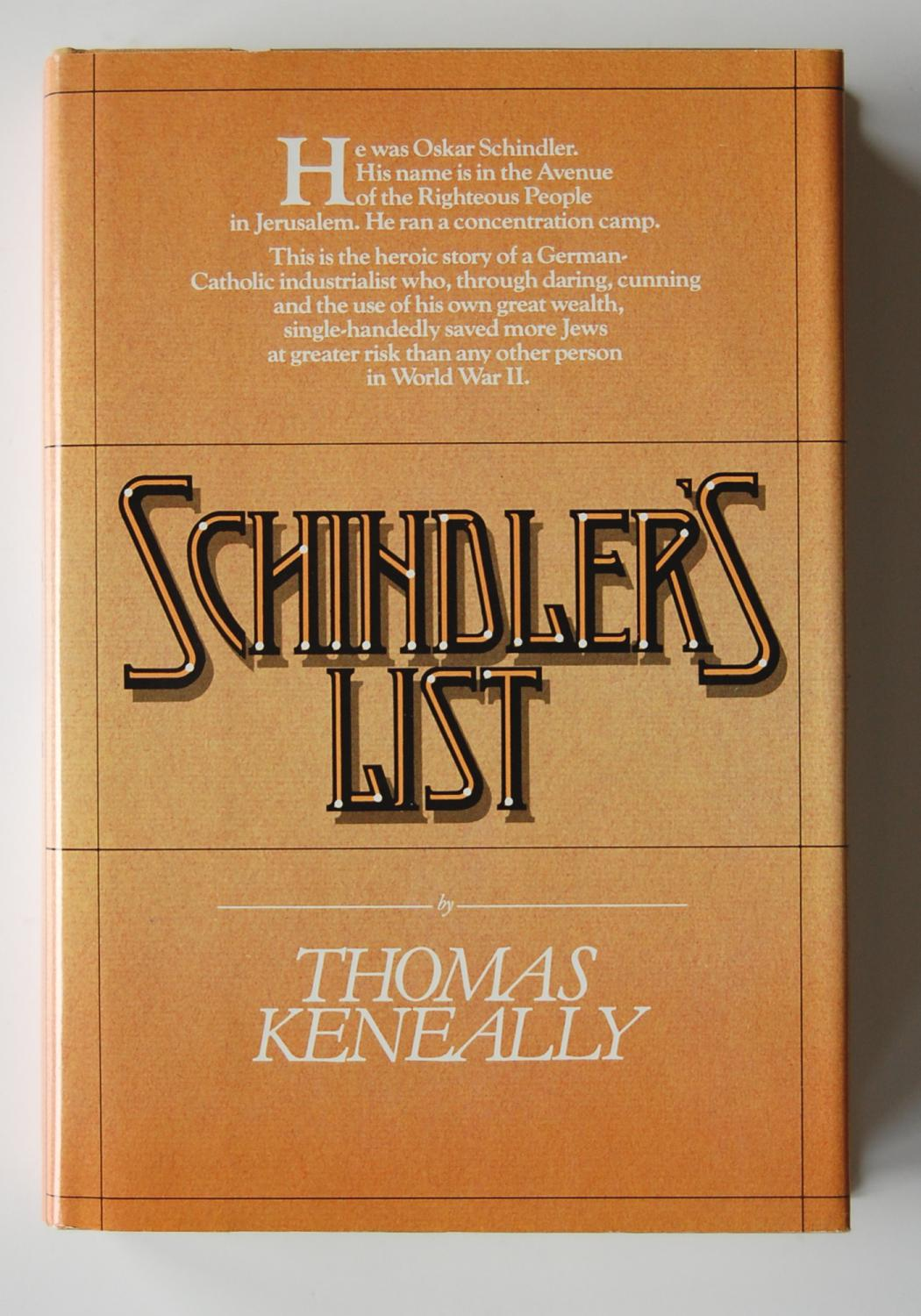 a critical analysis of thomas keneallys schindlers list on the topic of world war two The hostage rescue team is part of the critical incident response group kennedy pointed out one real-world use of life-cycle cost analysis in.