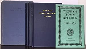 WENHAM TOWN RECORDS 1642-1835, 8 Volumes Complete