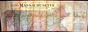 Scarborough's Topographic Map of Massachusetts Howing Railroads, Electric Railways, Steamboat ...