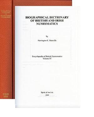 Encyclopedia of British Numismatics, Vol. 4. Biographical: Manville, Harrington E.