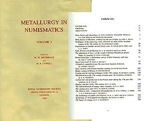 Metallurgy in Numismatics, Volume 3: Archibald, M. M. & M. R. Cowell