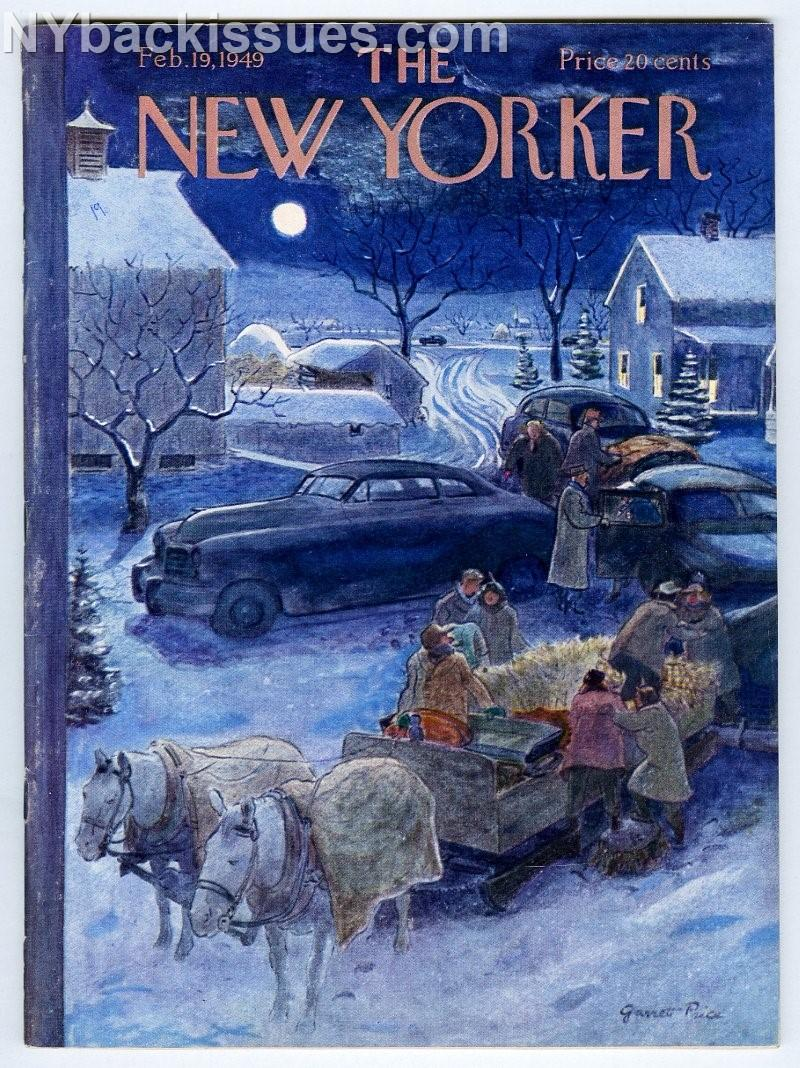 New_Yorker_magazine_February_19_1949_full_moon_hayride_FINE___Très_bon_Couverture_souple