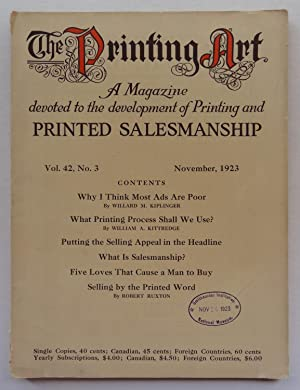 The Printing Art: A Magazine Devoted to: Edwin T. Stiger