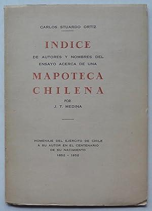 Indice de autores y nombres del ensayo: Carlos Stuardo Ortiz