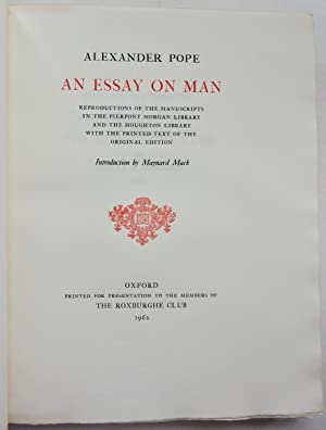 Pope  Essay On Man  Abebooks An Essay On Man Reproductions Of The Alexander Pope Maynard