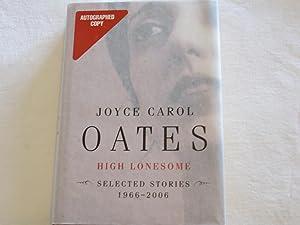 High Lonesome: Oates, Joyce Carol
