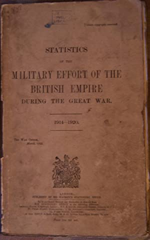 Statistics of the Military Effort of the British Empire 1914-1920