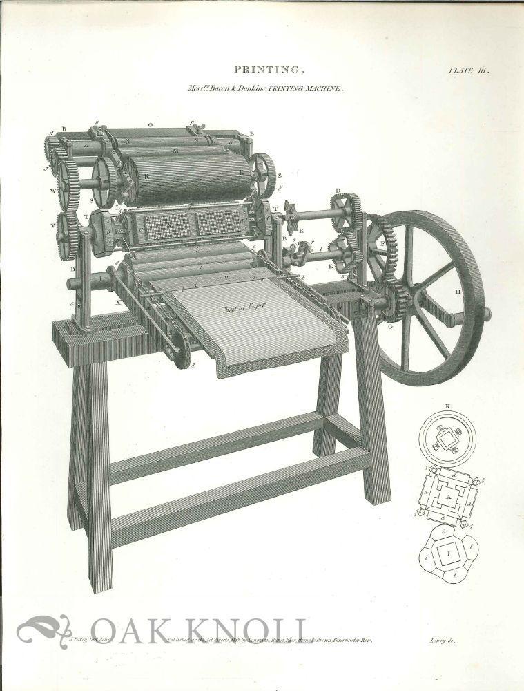 PRINTING. MESSRS BACON & DONKINS PRINTING MACHINE   [ ] (bi_12224232859) photo