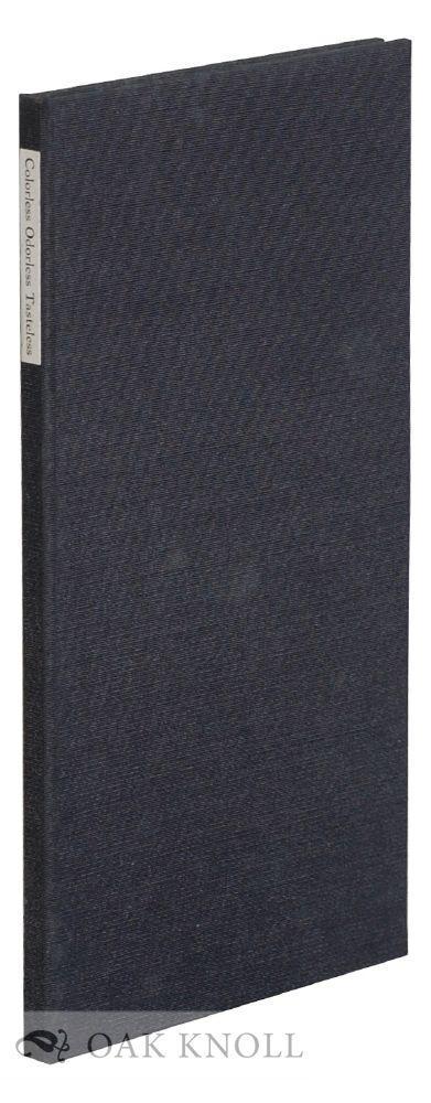 COLORLESS ODORLESS TASTELESS Casey, John Albert [ ] [Hardcover] (bi_14752101238) photo